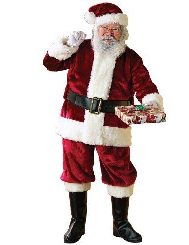 Rubie's Costume Regency Plush Crimson Santa Suit, Red/White, X-Large Costume