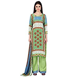 Admyrin Women Multi Colour Crepe Dress Material