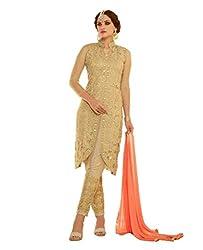 Desi Look Men Georgette Dress material (_Gold)