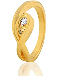 Variation Valentine Gifts Gold Plated Ring For Girls And Women In American Diamond CZ Ring For Women- VD18058