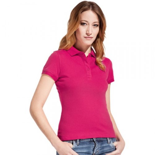 promodoro damen polo shirt l pink damen poloshirt. Black Bedroom Furniture Sets. Home Design Ideas