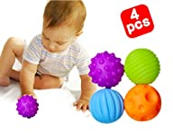 Blackcell Soft Ball Textured Multi-Sensory Ball Set Encourage Baby's Sensory Development(Baby…