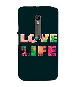 PrintVisa Life Quotes Design 3D Hard Polycarbonate Designer Back Case Cover for Motorola Moto G3