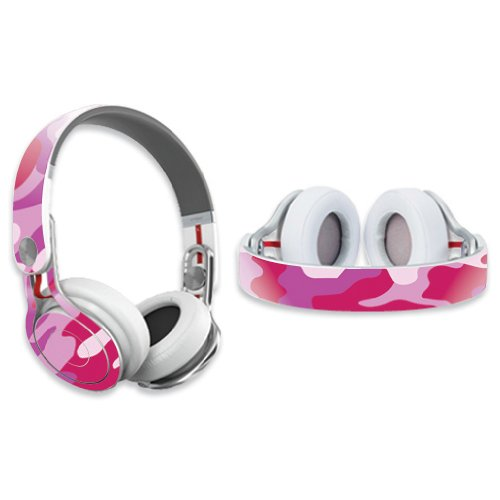 Mightyskins Protective Vinyl Skin Decal Cover For Dr. Dre Beats Mixr Headphones Sticker Skins Pink Camo