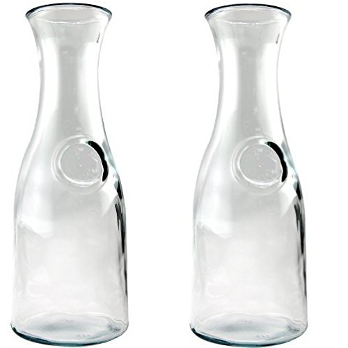 Glass Water or Wine Carafe - 1 Liter (2) (Drink Carafe compare prices)