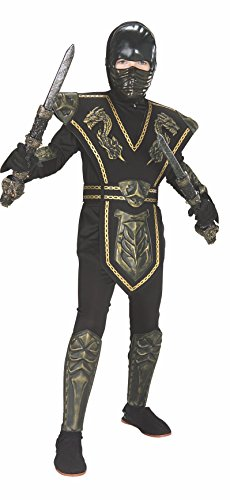 Gold Dragon Warrior Child's Ninja Costume, Large