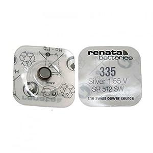5x Pila de Reloj Renata - 335 / SR512SW - 1.5V - Hechas en Suiza - Oxido de Plata - También conocidas como SB-AB, 280-68, V335, 622 marca Renata