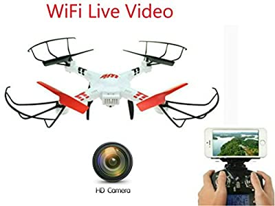 SkyCo V686K Drone with Camera Live Video Gyro 2.4G 4CH WIFI FPV Real-time Video Return (Android and IOS compatible) UFO RC HD Camera Drone with Live Camera Quadcopter by Wltoys