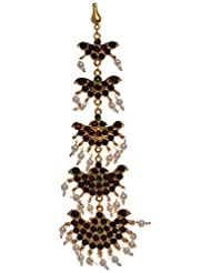 Preethi Gold Plated Gold Metal Maang Tikka For Women (Preethi_52)