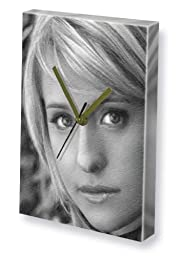 ALLISON MACK - Canvas Clock (A4 - Signed by the Artist) #js006