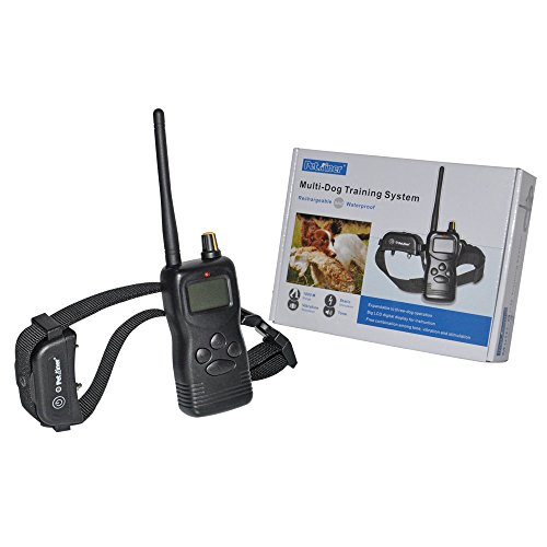 Petrainertm Newly Updated 1000 Yard Range Waterproof Rechargeable Lcd Remote Shock Control Dog Training Collar System With Multiple 3 Modes Combinations (99-Level Stimulation For Each Mode And Support Up To 3 Collars In One System)