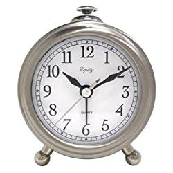 Equity 25655 Metal Quartz Alarm Clock