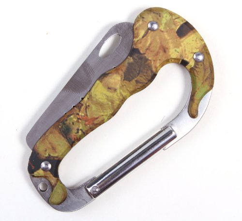 Camouflage Carabiner Multi-Tool Knife for Mountaineering