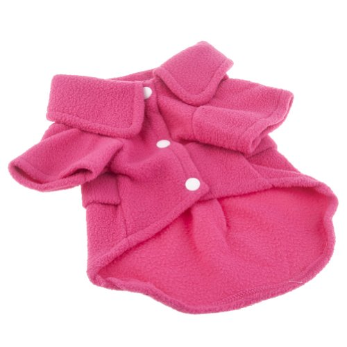 Neewer® Fashion Elegant Rose Red Comfort Warm Fleeces Winter Coat For Dogs Clothing Size S front-625145