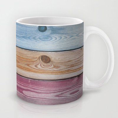 Society6 - Wooden Rainbow Coffee Mug By Nicklas Gustafsson