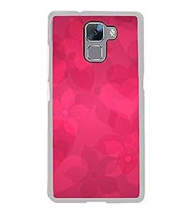 Beautiful Hearts Flowers 2D Hard Polycarbonate Designer Back Case Cover for Huawei Honor 7 :: Huawei Honor 7 Enhanced Edition :: Huawei Honor 7 Dual SIM