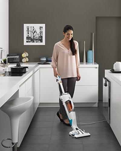 rowenta ry7557wh clean steam scopa elettrica e lavapavimenti a vapore bianco ebay. Black Bedroom Furniture Sets. Home Design Ideas