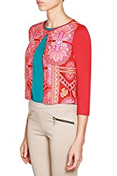 global desi Women's Jacket (X25088F-JK-53VL_Rust_XX-Small)