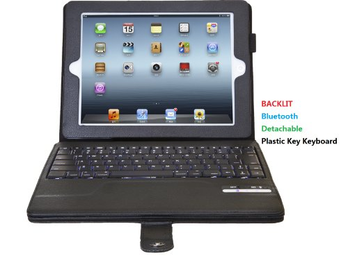 Top® Leather Case With Keyboard For Ipad 2, Custom Ipad Case, For Ipad 2 Case, Notebook Case With Bluetooth Keyboard For Ipad 3, Ipad 3 Leather Case