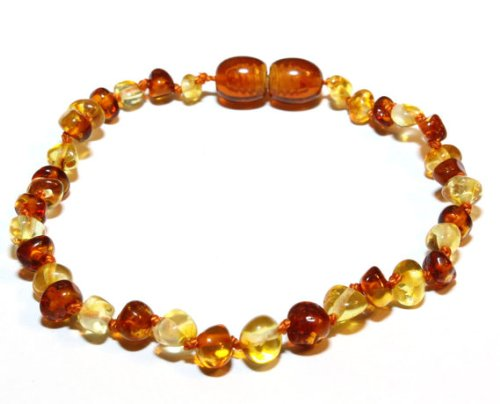 Bouncy Baby Boutique(Tm) - Certified Authentic Baltic Amber Teething Bracelet/Anklet - B31 Honey & Lemon front-1070552