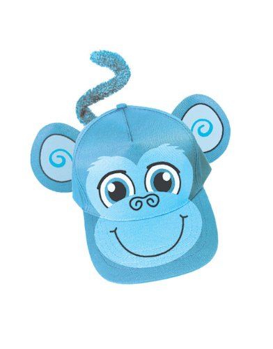 Adults Kids Adjustable Blue Monkey Animal Zoo Baseball Cap Hat Costume Accessory
