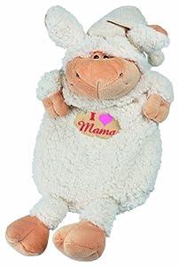 """Wärmfläsche """"I LOVE MAMA"""" für das Baby / Kind, kuschelig in Schäfchenform, flauschig für die Füßchen, ohne Inhalt zu verwenden als Beutel für den Schafanzug (39303/34304) (weiß)"""