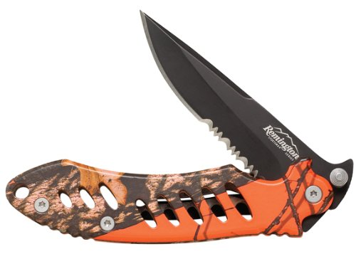 Discover Bargain Remington F.A.S.T. Camo Mossy Oak Obsession Folder Knife (Black)
