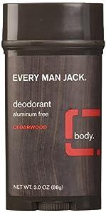 Every Man Jack Deodorant, Cedarwood, 3 Ounce