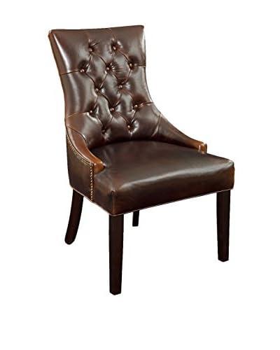 Bassett Mirror Company Fortnum Tufted Nailhead Parsons Chair, Brown