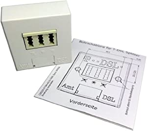 T-DSL Splitter mit TAE Anschlusskabel