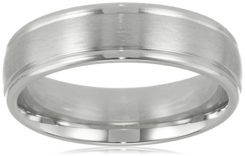 Men's Platinum Comfort-Fit Wedding Band  High-Polish