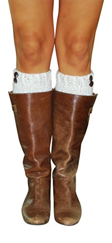 Lucky Love Boot Cuffs for Women, Cute Leg Warmer Boots Topper, Knit Boot Socks (Extra Wide Steel Toe Shoe compare prices)