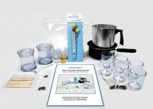 Soy Scented Candle Making Kit - A Fun Family Project with Detailed Color Instructions.