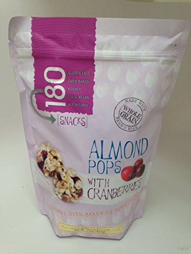 180 Snacks Almond Pops With Cranberries 15 oz Value Bag (Pop Rice compare prices)