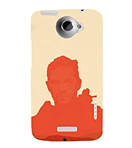 printtech Abstract Personality Design Back Case Cover for HTC One XT / HTC 1X
