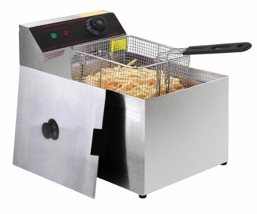 Deep Fryer Electric Commercial Unit Tabletop Restaurant Frying w/ Basket Scoop