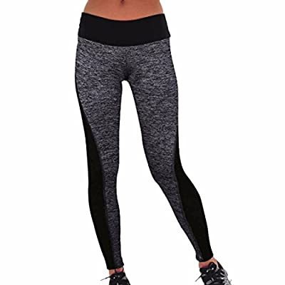 Women Black Gray Fitness Leggings Yoga Running Sports Yoga Pants Gymnase Guetres