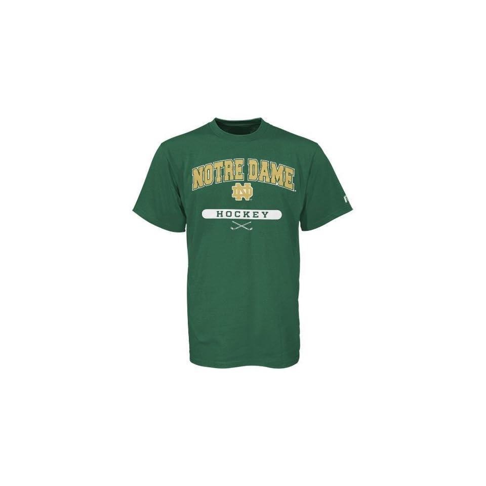 Notre Dame Fighting Irish Green Hockey T shirt