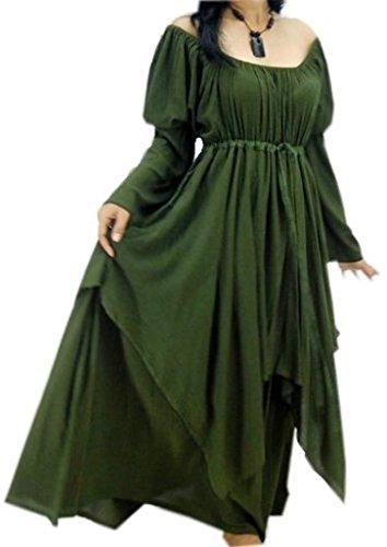 Lotustraders Dress Peasant Layer Renaissance Green 5X G922