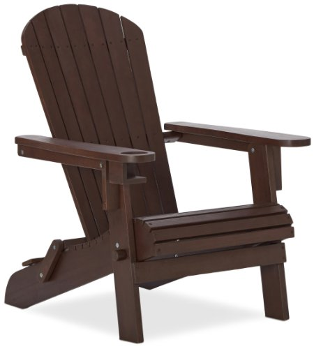 Strathwood Adirondack Chair  Cupholder, Dark
