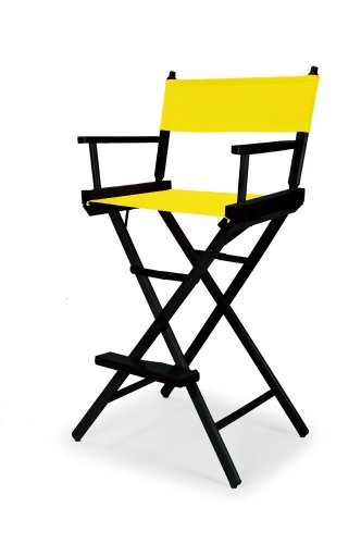 Telescope Casual Heritage Bar Height Director Chair, Canary With Black Frame