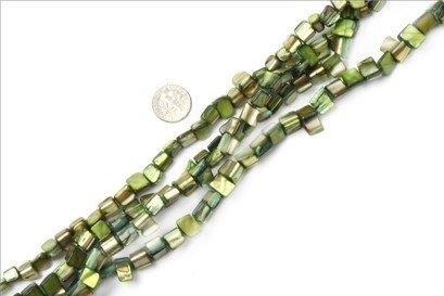 8mm--9mm gemstone light-green shell beads strand 15