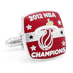 3D Miami Heat 2012 Championship Cufflinks by CUFFLINKS