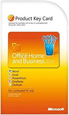 Microsoft Office Home & Business 2010 Key Card (1PC/1User) [OLD VERSION]