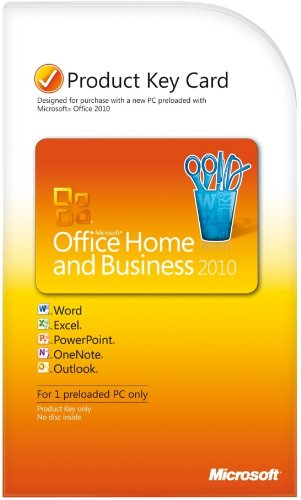 Microsoft Office Home & Business 2010 Product Key Card- 1pc/1user [download] Picture