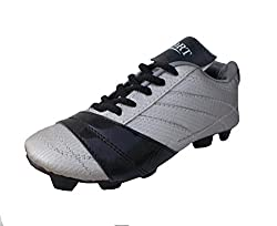 Port Unisex Nitro Black Silver PU Football Shoes(Size 8 UK/IND)