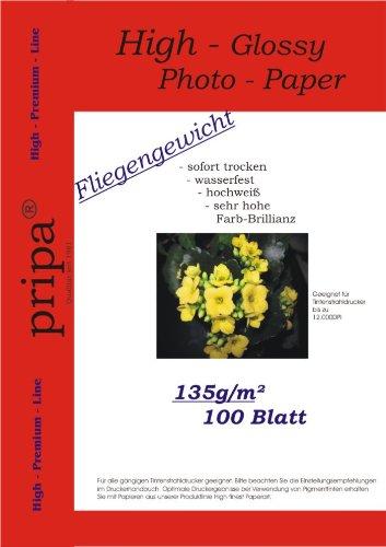 pripa-confezione-da-100-fogli-di-carta-fotografica-a4-135-g-carta-lucida-idro-repellente-per-stampan