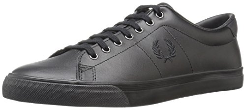 Fred Perry Underspin Leather Uomo Sneaker Nero, Noir, 45