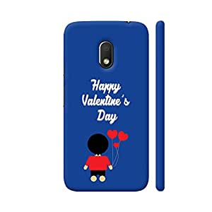 Colorpur Happy Valentine's Day Boy With Heart Balloons Artwork On Motorola Moto G4 Play Cover (Designer Mobile Back Case) | Artist: Designer Chennai