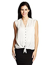 Chemistry Women's Button Down Shirt (C16-630WTTOP_Hermine_Small)